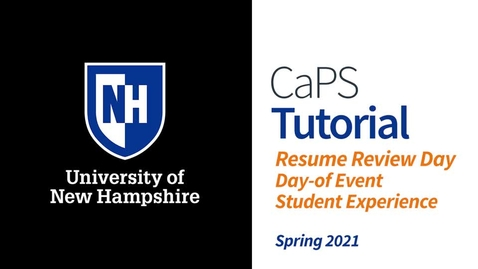 Thumbnail for entry Resume Review Day in Handshake: Student Day-of Event Experience Preview (Updated Spring 2021)