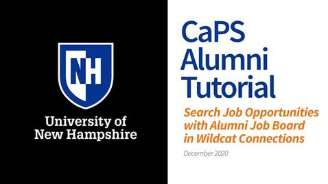 Thumbnail for entry How To: Search Wildcat Connections Alumni Job Board