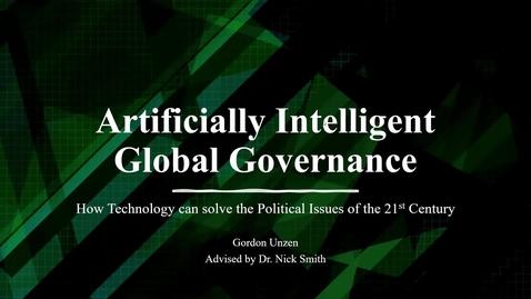 Thumbnail for entry AI Global Governance