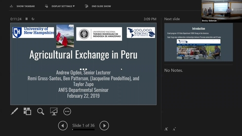 Thumbnail for entry ANFS Seminar: Andrew Ogden and Peru Travellers, 22 Feb 2019