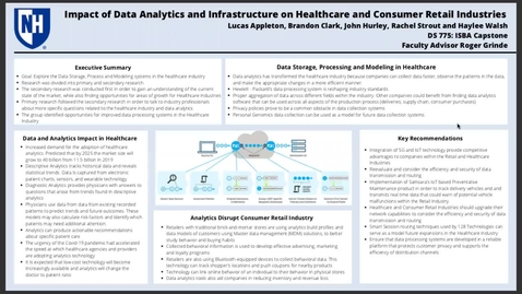 Thumbnail for entry Impact of Data Analytics and Infrastructure on Healthcare and Consumer Retail Industries