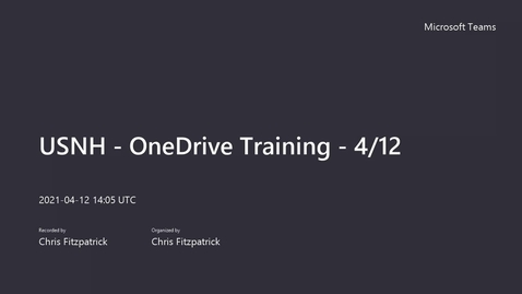 Thumbnail for entry USNH - OneDrive Training - 4_12