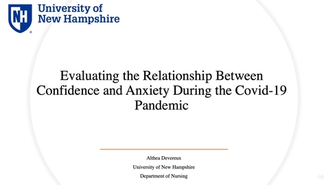 Thumbnail for entry Evaluating the Relationship Between Confidence and Anxiety During the Covid-19 Pandemic