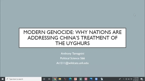 Thumbnail for entry MODERN GENOCIDE: WHY NATIONS ARE ADDRESSING CHINA'S TREATMENT OF THE UYGHURS