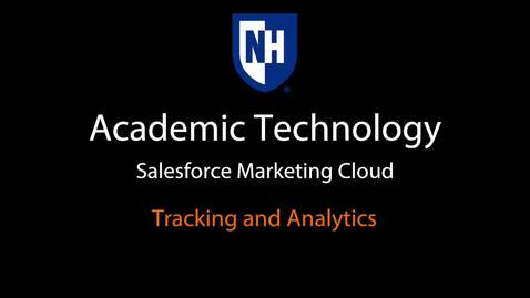 Thumbnail for entry SFMC - Tracking and Analytics