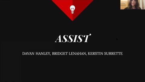 Thumbnail for entry FIRE Team 14 Hospitalitibees (Team 14): ASSIST