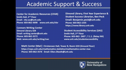 Thumbnail for entry **Academic Support Outside The Classroom: We Are Here For Students