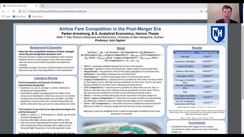 Thumbnail for entry HONORS.Airline Fare Competition in the Post Merger Era