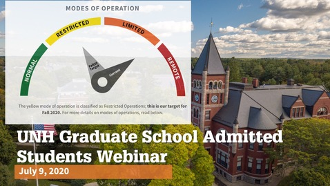 Thumbnail for entry UNH Admitted Graduate Student Webinar