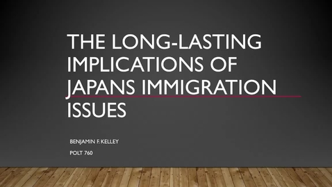 Thumbnail for entry The Long-Lasting Implications of Japan's Immigration Issues