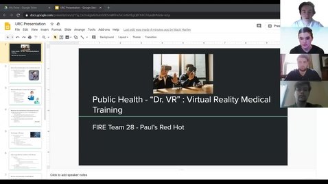 Thumbnail for entry Paul's Red Hot (Team 28): Dr. VR