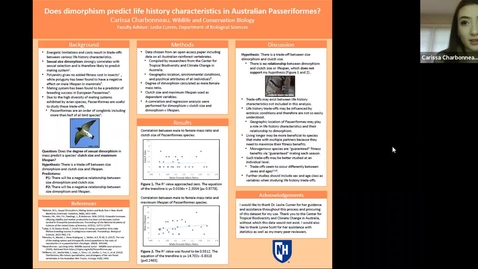 Thumbnail for entry Does dimorphism predict life history characteristics in Australian Passeriformes?