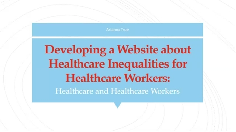 Thumbnail for entry Developing a Healthcare Inequalities Website