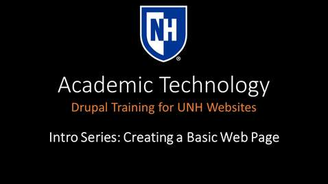 Thumbnail for entry Drupal Intro Series - Creating a Basic Web Page