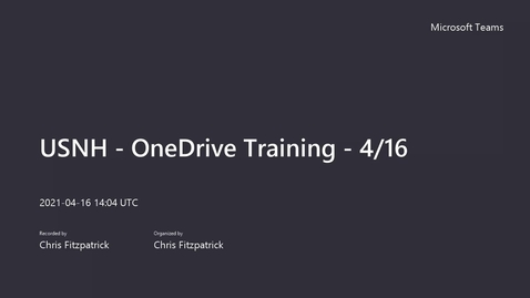 Thumbnail for entry USNH - OneDrive Training - 4_16