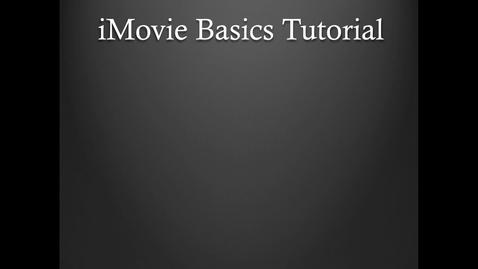 Thumbnail for entry KB: iMovie Tutorial