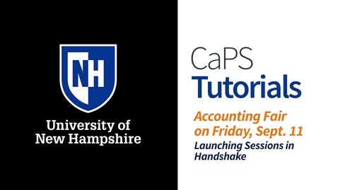 Thumbnail for entry Accounting Fair: Launching Sessions in Handshake