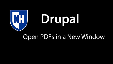 Thumbnail for entry Drupal - Open PDFs in a new window