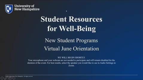 Thumbnail for entry **Student Resources for Well-Being