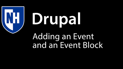 Thumbnail for entry Adding Event and Event Block