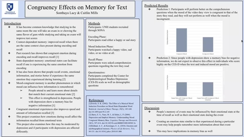 Thumbnail for entry Congruent Effects on Memory for Text