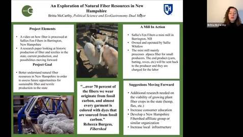 Thumbnail for entry ECOG-An Exploration of Natural Fiber Resources in New Hampshire