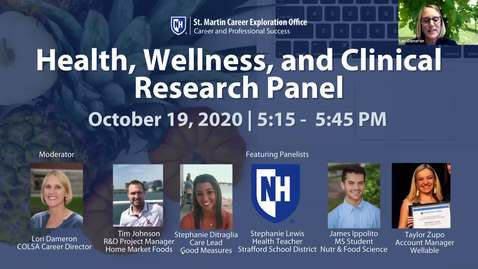Thumbnail for entry Health, Wellness, and Clinical Research Panel