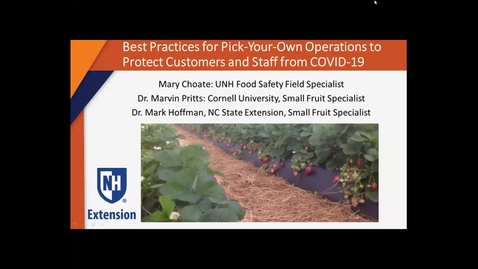 Thumbnail for entry Best Practices for Pick-Your-Own Operations to Protect Customers and Staff from COVID-19