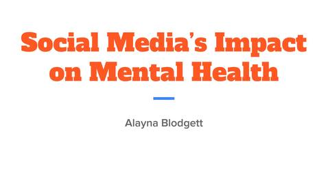 Thumbnail for entry Social Media's Impact on Mental Health