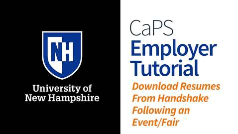 Thumbnail for entry Employer How To: Download Resumes Following an Event
