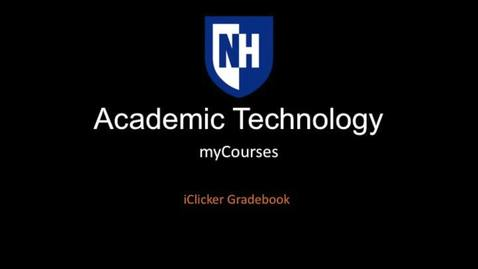 Thumbnail for entry iClicker - Gradebook