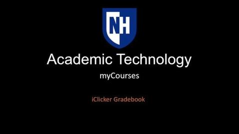 Thumbnail for entry iClicker - Gradebook