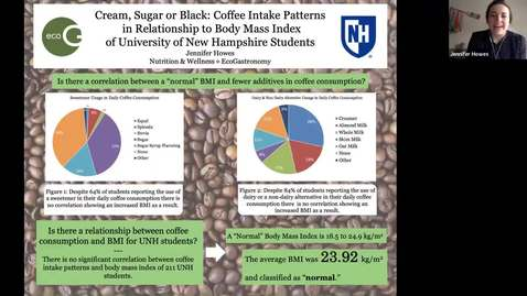 Thumbnail for entry ECOG-Cream, Sugar or Black: Coffee Intake Patterns in Relationship to Body Mass Index of University of New Hampshire Students