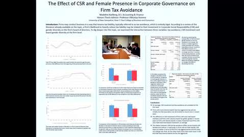 Thumbnail for entry HONORS.The-Effect-of-CSR-and-Female-Presence-in-Corporate-Governance-on-Firm-Tax-Avoidance