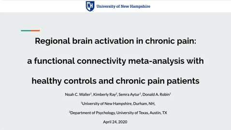 Thumbnail for entry Regional brain activation in chronic pain: a functional connectivity meta-analysis with healthy controls and chronic pain patients