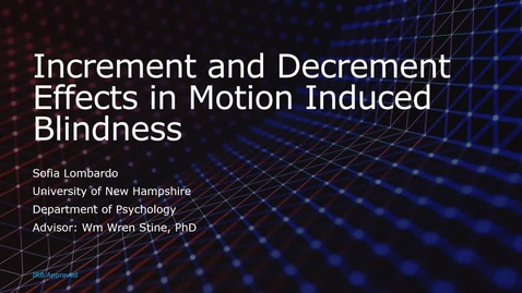 Thumbnail for entry Increment and Decrement Effects in Motion Induced Blindness