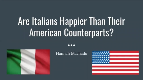 Thumbnail for entry Are Italians Happier Than Their American Counterparts?