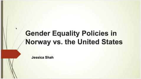 Thumbnail for entry A Cross Cultural Comparison Between Gender Equality Policies in Norway and the United States
