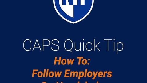 Thumbnail for entry How to Follow Employers on Handshake