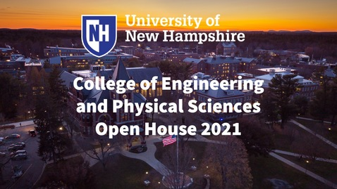 Thumbnail for entry College of Engineering and Physical Sciences Open House 2021