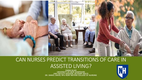 Thumbnail for entry Can Nurses Predict Transitions of Care in Assisted Living?