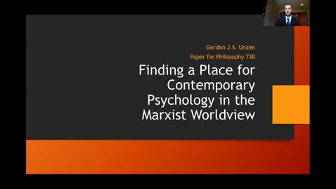 Thumbnail for entry Finding a Place for Contemporary Psychology in the Marxist Worldview