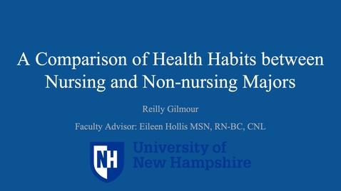 Thumbnail for entry A Comparison of Health Habits between Nursing and Non-nursing Majors
