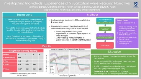 Thumbnail for entry Investigating Individuals' Experiences of Visualization While Reading Narrratives