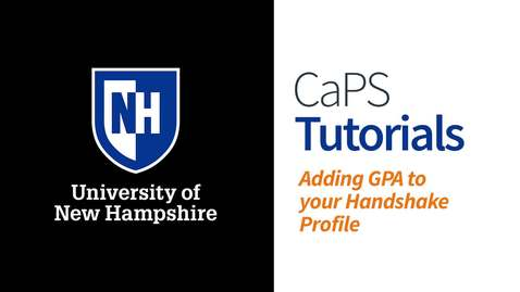 Thumbnail for entry How To: Add GPA to Your Handshake Profile