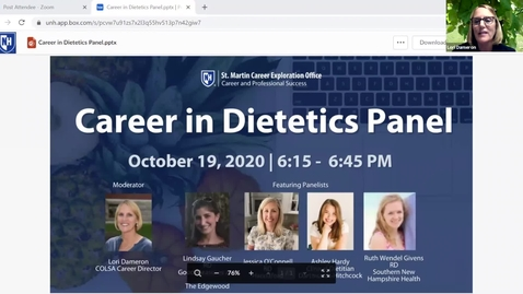 Thumbnail for entry Careers In Dietetics Panel