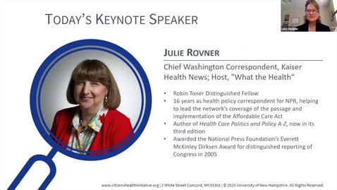 Thumbnail for entry NH Citizens Health Initiative Symposium Keynote: Julie Rovner