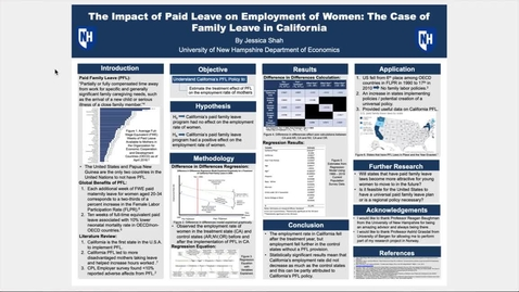 Thumbnail for entry Honors.The Impact of Paid Leave on Employment of Women: The Case of Family Leave in California