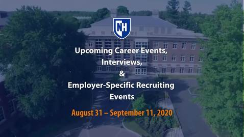 Thumbnail for entry Employer & CaPS Events, August 31 - September 11, 2020