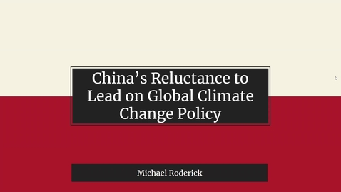 Thumbnail for entry China's Reluctance to Lead on Climate Change Policy